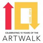 Art Walk 10 Year Logo