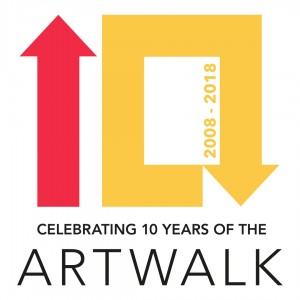 Art Walk 10 Year Logo