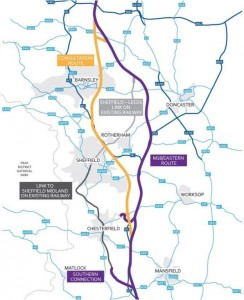 HS2 New Route - BBC/HS2