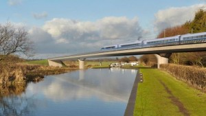 Artists Impression of HS2 - BBC/HS2