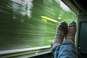 Relaxing on Train