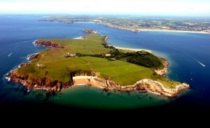 Island of Caldey off the Welsh coast