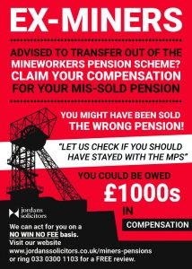 ex-miners mis-sold pensions MPS